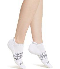 women's bombas solid ankle socks, size medium - white