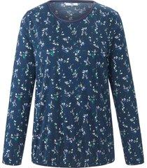 shirt ronde hals en lange mouwen van peter hahn blauw