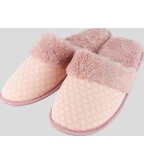 pantuflas de descanso rosa baziani