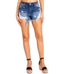madden girl juniors' ripped jean shorts