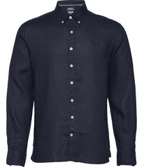 anthony linen shirt b.d overhemd casual blauw sebago