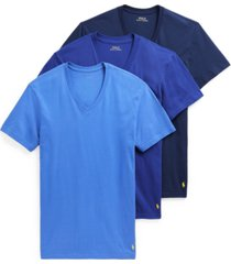 polo ralph lauren men's 3-pk. classic-fit cotton v-neck undershirts