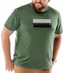 camiseta estampa brilho plus tze verde - kanui