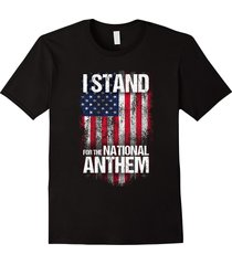 i stand for the national anthem t-shirt, distressed usa flag men