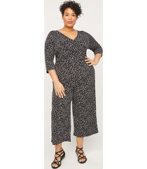 bristol dotted wrap jumpsuit