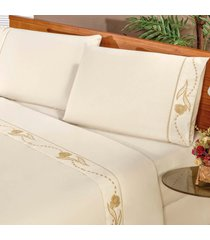 jogo de cama casa dona imperial solteiro 03 peã§as imperial branco - incolor - dafiti