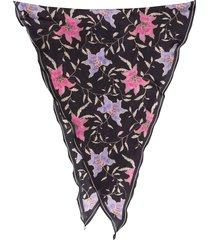 isabel marant alia floral-print scarf - black