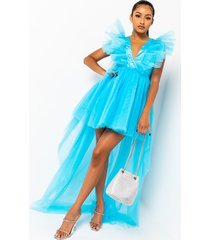 akira elevate tulle high low dress