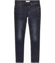 mens blue black stretch skinny jeans