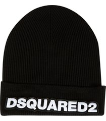woven embroidered beanie dsquared2