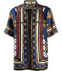 dolce & gabbana stained glass window shirt - black