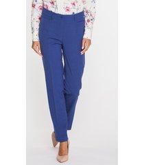 eleganckie spodnie w odcieniu navy blue