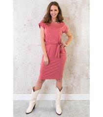 femme fatale jurk oud roze