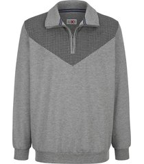 sweatshirt roger kent antraciet::zilvergrijs