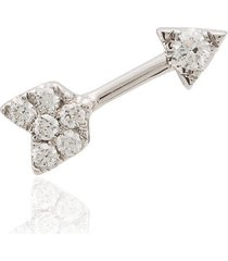 roxanne first cupid bow 14kt diamond earring - white gold