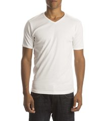 petrol t-shirt basic v-neck white ( 4p)