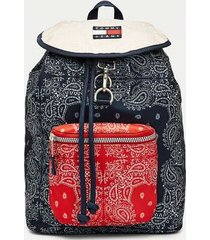 tommy hilfiger men's bandana print backpack navy/red -