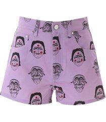 kirin mask print shorts