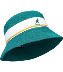 kg bermuda stripe bucket accessories headwear groen kangol