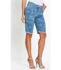 jeans bermuda met print