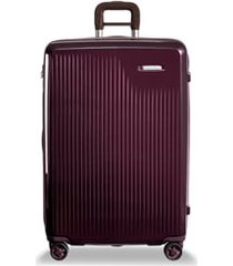 briggs & riley sympatico 30-inch expandable wheeled packing case - purple