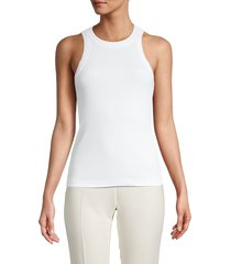 james perse women's ribbed tank top - black - size 2 (m)