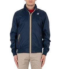 k-way amaury nylon jersey jacket