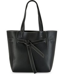 jacques faux-leather tote