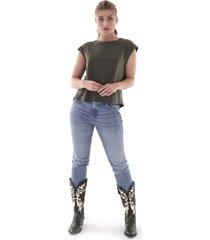 blusa manga siza casual - mujer