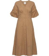 milly ss dress jurk knielengte bruin second female