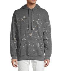 rnt23 men's laser destroy hoodie - grey - size l