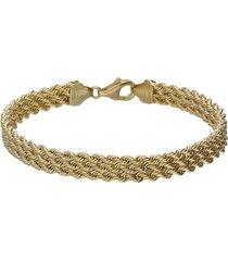 bracciale in oro giallo a maglie rotonde per donna
