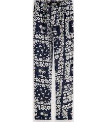 scotch & soda hawaiian floral print trousers