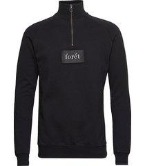 cave half zip sweat sweat-shirt trui zwart forét