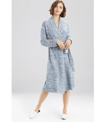 natori serenity cardigan robe, women's, blue, size l natori