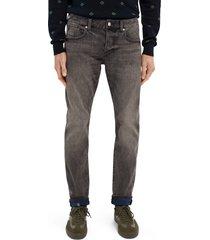 men's scotch & soda ralston slim straight leg jeans, size 36 x 32 - black
