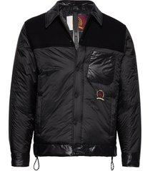 hcm shirt jacket gevoerd jack zwart hilfiger collection