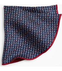 pañuelo redondo nautical print azul brooks brothers
