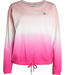 gradient drawstring sweatshirt
