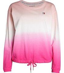 tie-dye ombré drawstring sweatshirt