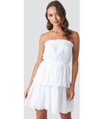 céline & talisa x na-kd strapless mini dress - white