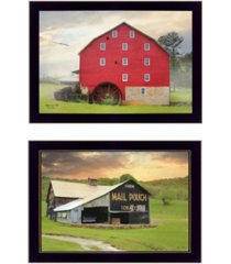 "trendy decor 4u mail pouch barn and mill collection by lori deiter, printed wall art, ready to hang, black frame, 20"" x 14"""