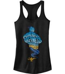 disney juniors' aladdin all powerful genie ideal racerback tank top
