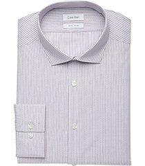 calvin klein lavender stripe slim fit dress shirt