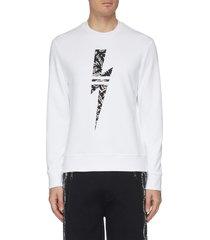 thunderbolt graphic print sweatshirt