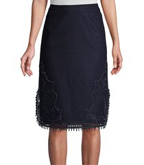 kobi halperin women's giovanna beaded skirt - navy - size m