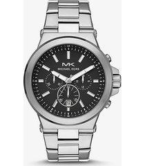 mk orologio dylan oversize tonalità argento - argento (argento) - michael kors