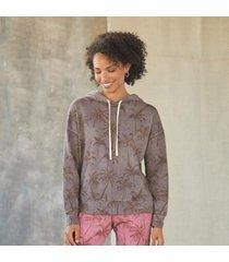 sundance catalog women's palm isle hoodie in ltcharcoal small