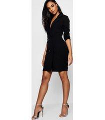 blazer jurk, zwart