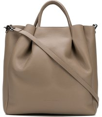 fabiana filippi pleated hobo bag - neutrals